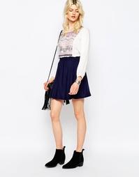 Короткая расклешенная юбка Only Magusti - Темно-синий