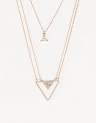 Многорядное ожерелье ALDO Vaylla - Золотой