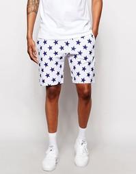 Трикотажные шорты со звездами Champion - Белый