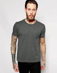 Серая футболка с карманом YMC - Темно-серый