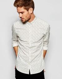 Рубашка с цветочным принтом Esprit - Белый