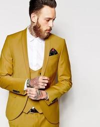 Облегающий пиджак с лацканами наклонной формы Noose & Monkey