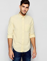 Желтая оксфордская рубашка слим Abercrombie & Fitch - Желтый