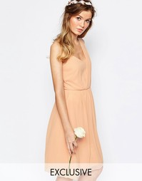 Платье на одно плечо Vila - Blush