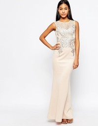 Платье-футляр макси с кружевной аппликацией Michelle Keegan Loves Lips Lipsy