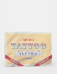Набор игральных карт с изображениями тату Temerity Jones - Мульти