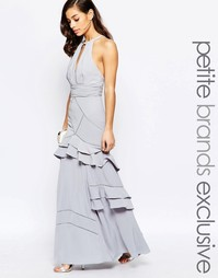 Платье макси с многослойными оборками Jarlo Petite - Серый