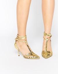Туфли на каблуке с острым носом ASOS SKYLINE - Золотой