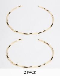 2 витых браслета‑манжета на предплечье ASOS - Золотой