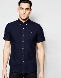 Оксфордская рубашка узкого кроя с короткими рукавами Farah