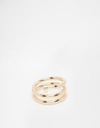 Золотое кольцо в несколько оборотов ASOS - Блестящее золото