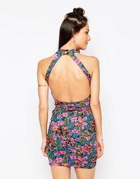 Облегающее платье с открытой спиной Motel Pomme - Яркие цветы