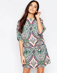 Платье-туника с мозаичным принтом Mela Loves London - Мульти