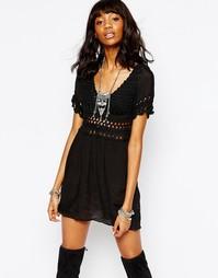 Платье с топом кроше Stitch & Pieces - Черный