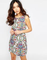 Платье с принтом и карманами на молнии Iska - Мульти