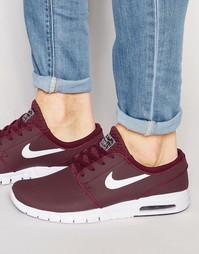 Кожаные кроссовки Nike Stefan Janoski Max 685299-611 - Красный