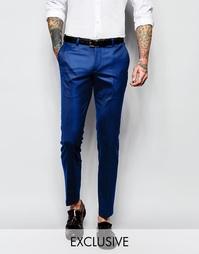 Супероблегающие брюки под смокинг с жаккардовой отделкой Noose & Monke
