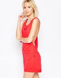 Флисовый комбинезон с шортами Emporio Armani - Красный