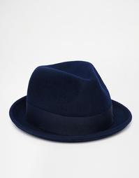 Мягкая фетровая шляпа из шерсти Goorin Rude Boy - Темно-синий