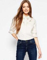 Рубашка в стиле 70‑х с цветочной вышивкой ASOS - Мульти