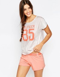 Пижамный комплект с шортами Tommy Hilfiger Penne - Peach