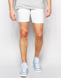 Джинсовые шорты с эластичным поясом Solid - Белый !Solid