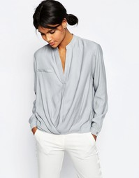 Повседневная блузка из льняной смеси ASOS - Серый
