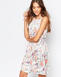 Платье с пастельным цветочным принтом Mela Loves London - Мульти