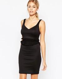 Платье-футляр с оборками на талии Hedonia Maisy - Черный