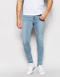 Синие супероблегающие джинсы с классической талией Waven Royd