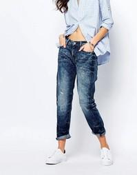 Укороченные джинсы бойфренда с нашивкой G-Star Midge - Синий