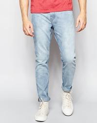 Голубые стретчевые джинсы Weekday Friday - Синий