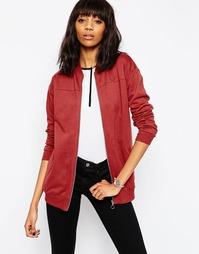Удлиненная трикотажная куртка‑пилот ASOS - Новый красный
