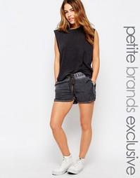 Свободные шорты с затягивающимся шнурком Noisy May Petite - Черный