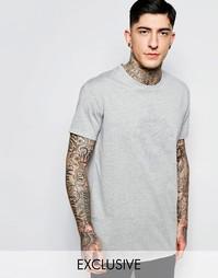 Серая футболка с изнаночным принтом Brooklyn Supply Co Coney Island Be