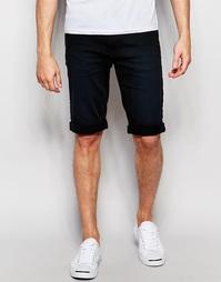 Черные джинсовые шорты-бермуды слим Blend - Черный