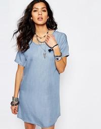 Джинсовое цельнокройное платье Noisy May - Синий