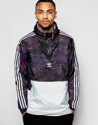 Ветровка с мраморным принтом adidas Originals AN9912 - Черный