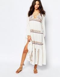 Светло-бежевое платье макси с вышивкой BA&SH Vianey - Экрю Ba&;Sh