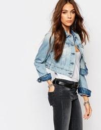 Укороченная джинсовая куртка Replay - Синий