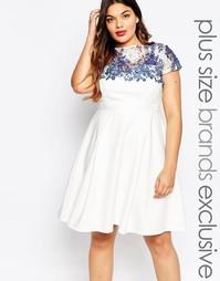 Платье для выпускного размера плюс с кружевной накладкой Lipstick Bout Paper Dolls Plus