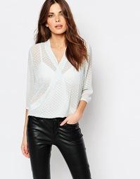Рубашка светло-мятного цвета с запахом Sisley - 1b6 мятный