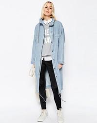 Джинсовая куртка в стиле милитари ASOS WHITE - Синий