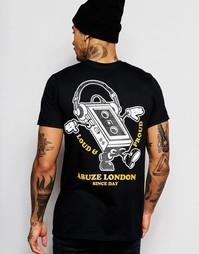 Футболка с принтом на спине Abuze London - Черный