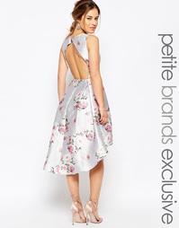 Асимметричное платье мини с открытой спинкой и цветочным принтом Chi-C