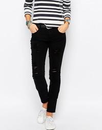 Рваные облегающие джинсы Only - Черный