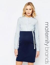 Комбинированное платье‑рубашка для беременных Mamalicious - Мульти Mama.Licious