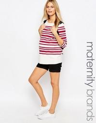 Джинсовые шорты для беременных Mamalicious - Черный Mama.Licious