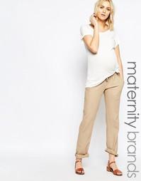 Льняные брюки для беременных Mamalicious - Бежевый Mama.Licious