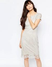 Кружевное платье-футляр Selected Charlotte - Silver cloud